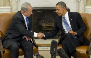 Obama Netanyahu Handshake